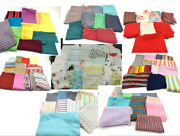 Vintage Scrap And Remnant Fabric Lot Retro Masks Crafts Quilts Doll Clothes 32lbs