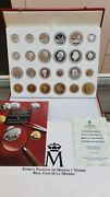 History Of The Peseta 17 Pieces In Silver And 7 Bath Gold With Case Certificate