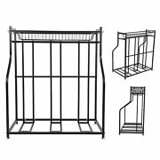 Backyards 3 Bikes Stand Rack 3 Bicycles Packing Stand Garage Organizer With Cage