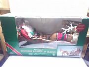 Vintage Holiday Creations Animated Reindeer And Santa On Sleigh In Original Box