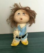 Rare Soviet Vintage Rubber Toy Boy Cartoon Ussr Kids Collectible Russia Old