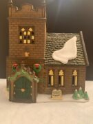 Dept 56 Dickens Village Sudbury Church And Old East Rectory With Accessories
