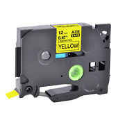 100pk Tz631 Tze631 Black On Yellow Label Tape For Brother P-touch Pt-1750 1/2