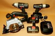 Craftsman Cordless 19.2 Volt Tool Set W/ Drill, Trim Saw, Impact Wrench, Charger