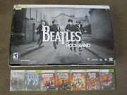 The Beatles Rock Band Bundle For Microsoft Xbox 360 Games+guitar+drums+mic Lot