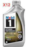 12 Quarts Engine Motor Oil Mobil1 Extended Performance Full Synthetic Sae 5w-20