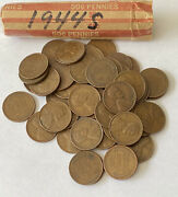 1944s Roll Of Lincoln Wheat Pennies