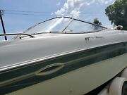 Port Side Curved Glass Windshield Only Off 99 Four Winns Horizon 240 Br