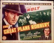 Jack Holt The Great Plane Robbery Orig Vintage Columbia Pictures Aviation Tc