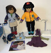 American Girl Dolls Lindsey And Asian 4 Lot