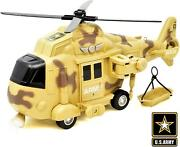 Us Army Military Helicopter Rescue Vehicle Friction Powered Lights Up Chop