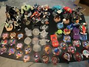 Disney Infinity Lot Figures, Disks, Games Xbox One Xbox 360 Pre Owned