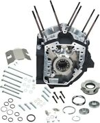 Sandamps Cycle Twin Cam Engine Cases, 4 1/4in. Bore With Stock Stud Pattern Black