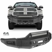 Powder Coated Front Bumper Assembly Winch Ready W Lights For 2010-2018 Dodge Ram