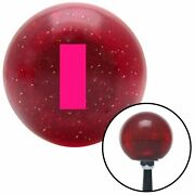 Pink Ensign Rank Red Metal Flake Shift Knob W/ M16x1.5 Insert Shifter Auto Brody