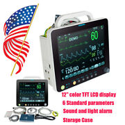 12 Large Display Portable Patient Monitor Life Signs Analysis Machine Hospital