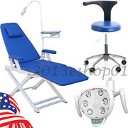 Dental Folding Chair With Led Light+doctor Assistant Stool Chair+led Dental Lamp