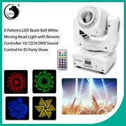 8 Patterns Led Beam Belt White Moving Head Light With Remote Controller 10/12ch