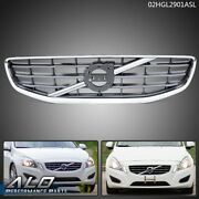 30795039 Fit For 11-2013 Volvo S60 Front Bumper Upper Grille Grill Chrome