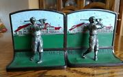 Extremely Rare Bobby Jones Figural Golf Bookends 1 Of A Kind 1930 Grand Slam