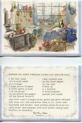Vintage Sea Ship Cat Cottage Kitchen Indian Curry Recipe 1 Christmas Snow Card