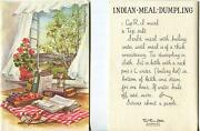 Vintage Kitchen Hourglass Apple Cheese Indian Meal Dumpling Print 1 Sheep Card