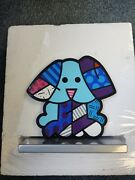 Remero Britton B.1963 Blue Dog Enamel On Iron Sculpture - Signed And Numbered 499