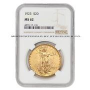 1923 20 Saint Gaudens Ngc Ms62 Choice Graded Mint State Gold Double Eagle Coin