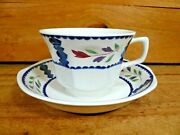 Adams Lancaster English Ironstone Set Of 7 Cups And Saucers Made In England