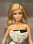 Barbie Fan Club Exclusive Platinum Label Beaded Gown Black And White Collection