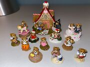 Wee Forest Folk Hansel And Gretel Bears Witchand039s House Tiny Teddies Set Of 12 Lot