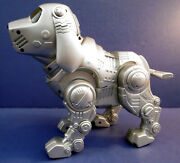 Vintage Tekno Silver Puppy Dog Interactive Robot Robotic Dog By Manley Toy Quest