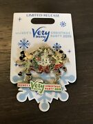 Disney 2018 Mickey And Minnie Merry Christmas Party Logo Dangle 3d Pin Limited New