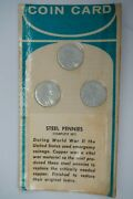 1943 P D S Lincoln Wheat Steel Penny Cent Set Sealed Complete Collector Set