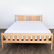Solid Wood Platform Bed Frame Headboard Oak Maple Hand Crafted Made Usa Assembly