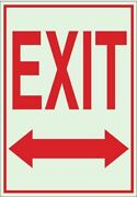 Brady 80221 Exit Sign English 7 W 10 H Polyester Red White