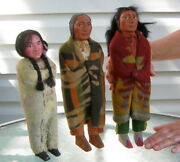 Native American Indian Antique Skookum Doll Collection Cultures Ethnicities
