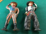 Two Different Barclay/manoil Vintage 2.75 Inch Cowboy Figures