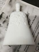 Vintage Imperial Glass White Milk Glass Whisk Broom Candy Nut Dish Trinket Box