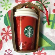 Nwt Starbucks Ornament Red Cup Tumbler Christmas 2013 Collectible