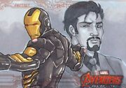 2015 Marvel Avengers Age Of Ultron Sketch Card Anderson Iron Man Stark