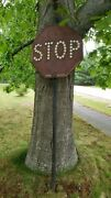 Rare Antique Stop Sign From The Massachusetts Public Works Department