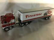 Dcp 164 Kenworth K100 Red And White With Short Black Frame And 45 Foot Trailer
