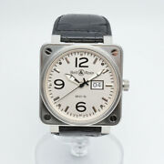 Bell And Ross Br01-96w Meter Date Automatic Date Display White Dial Oh Finished