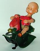 Henry Celluloid And Tin Rocking Horse Wind-up Toy Japan Circa 1934