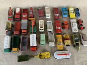 Vintage 1960 -70 Lot Of 33 Lesney Matchbox Vehicles And Others