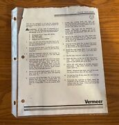 Vermeer Baler Chain Oiler Ak-142 Installation Instructions And Parts List 8/10/89