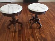 1 Antique Mahogany Oval Table And Marble Top Made Italy Side Plant Table 2 Avail