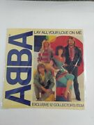 Abba Lay All Your Love On Me Lp Exclusive W/2 Radio Station Bumper Stickers