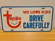 License Plate Topps Gum Cards We Love Kids Drive Carefully Vintage Very Rare